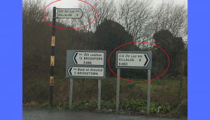 funny road signs in ireland 5